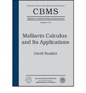 Malliavin Calculus and Its Applications Book