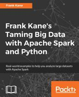 Frank Kane s Taming Big Data with Apache Spark and Python PDF