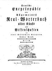 Deutsche Encyclopädie oder Allgemeines Real-Wörterbuch aller Künste und Wissenschaften: A - Ar, Band 1