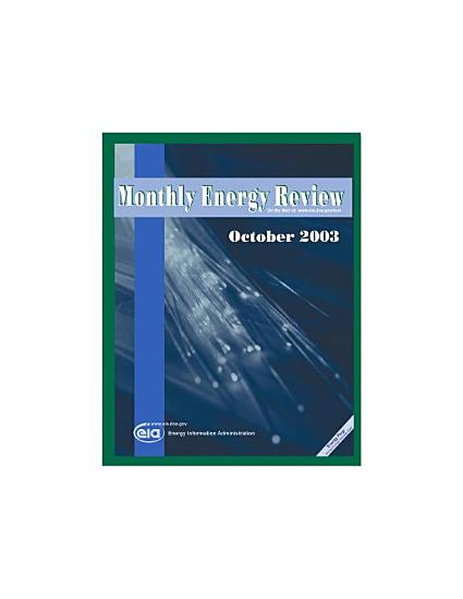 Monthly Energy Review  October 2003 PDF
