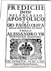 Prediche dette nel Palazzo apostolico