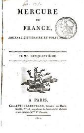 Mercure de France: Volume50