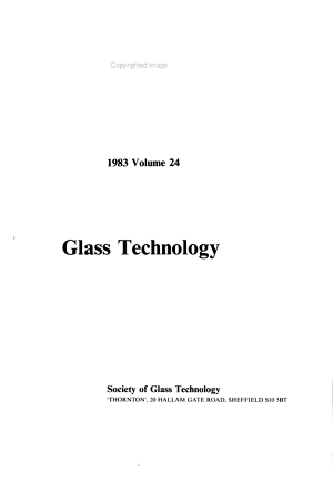Glass Technology PDF