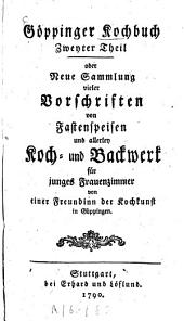 Göppinger Kochbuch: Band 2