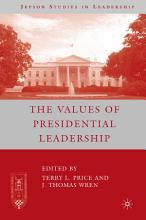 The Values of Presidential Leadership PDF