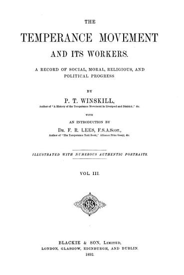 The Temperance Movement and Its Workers PDF