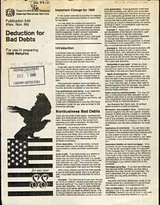 Deduction for Bad Debts