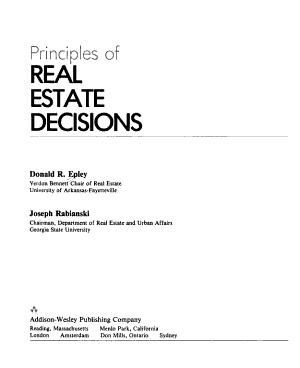 Principles of Real Estate Decisions PDF