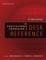 The Professional Counselor s Desk Reference  Second Edition PDF