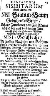 Genealogia Nisibitarum: des uralten Nisi-Stammbaum Geburtsbrief