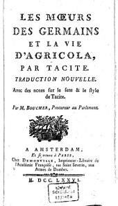 Les moeurs des Germains et la vie d'Agricola