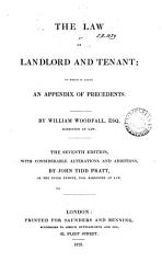 The Law Of Landlord And Tenant To Which Is Added An Appendix Of Precedents Book PDF