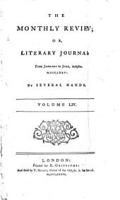 THE MONTHLY REVIEW OR LITERARY JOURNAL VOL. LIV