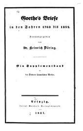 Goethes Briefe in den Jahren 1768 bis 1832