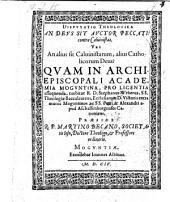 Disputatio theologica, an Deus sit auctore peccati? contra Calvinistas ... respondente Stephano Webero