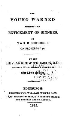 The Young Warned Against the Enticement of Sinners  in Two Discourses on Proverbs 1 10 PDF