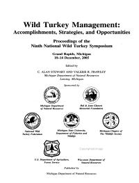 Wild Turkey Management PDF