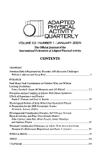 Adapted Physical Activity Quarterly PDF