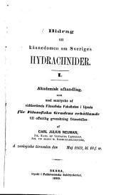 Bidrag till Kännedomen om Sveriges Hydrachnider