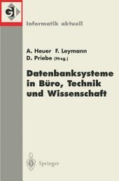 Datenbanksysteme in Büro, Technik und Wissenschaft: 9. GI-Fachtagung Oldenburg, 7.-9. März 2001