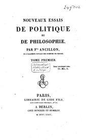 Nouveaux essais de politique et de philosophie: Volume2