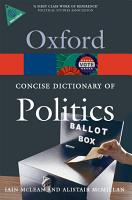 The Concise Oxford Dictionary of Politics PDF