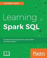 Learning Spark SQL PDF