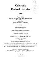 Download Colorado Revised Statutes Book