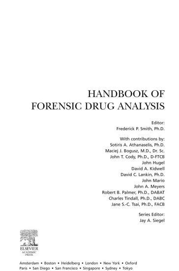 Handbook of Forensic Drug Analysis PDF