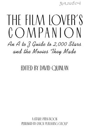 The Film Lover s Companion PDF