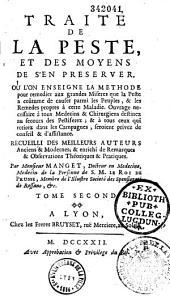Traité de la peste et des moyens de s'en preserver