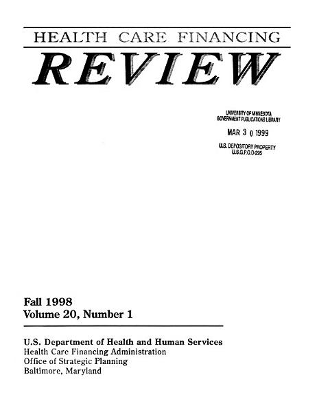 Health Care Financing Review PDF