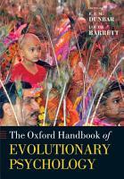 Oxford Handbook of Evolutionary Psychology PDF