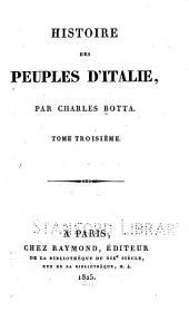 Histoire des peuples d'Italie: Volume3
