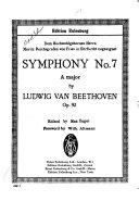 Symphonie Nr. 7, A dur, op. 92
