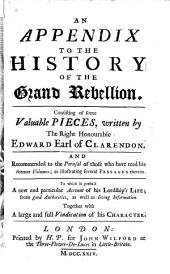An Appendix to the History of the Grand Rebellion