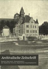 Archivalische Zeitschrift: Bände 11-12
