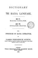 Dictionary of the Hausa language  with appendices of Hausa literature PDF