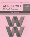 Wordly Wise 3000 Book 7 Test Book