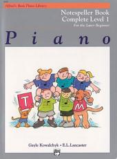 Alfred's Basic Piano Course: Notespeller Book Complete 1 (1A/1B)