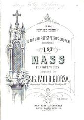 1st mass: for four voices, Volume 1