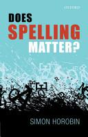 Does Spelling Matter  PDF