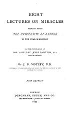 Eight Lectures on Miracles