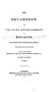 The Decameron, or Ten days' entertainment of Boccaccio: Volume 1