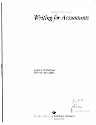 Writing For Accountants Book PDF