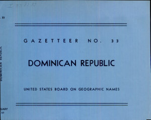 Dominican Republic  Official Standard Names Approved by the United States Board on Geographic Names PDF