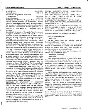 Florida Administrative Weekly PDF