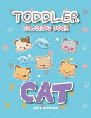 Toddler Coloring Book Cat Book
