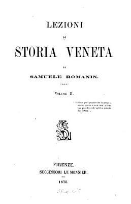 Lezioni di storia veneta PDF