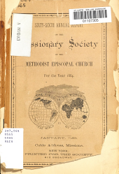 Annual Report of the Missionary Society of the Methodist Episcopal Church PDF